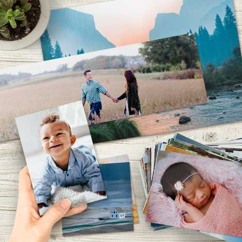 photo prints in multiple sizes