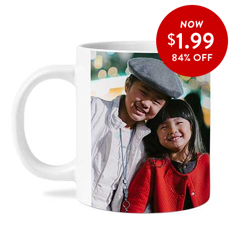 84% off 11oz. Photo Coffee Mugs