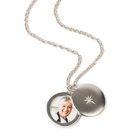 Silver Photo Locket Necklace