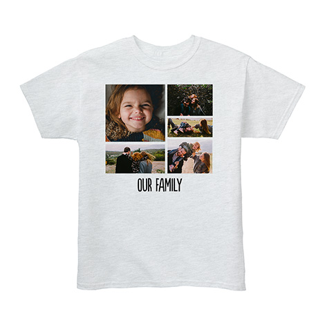 Youth Custom T-Shirt, Gray