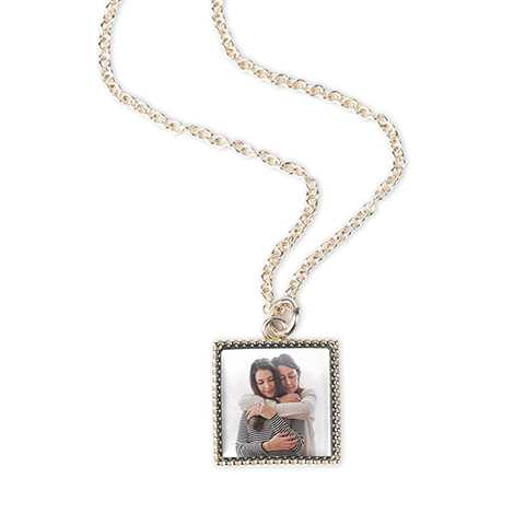 Silver Plate Photo Necklace