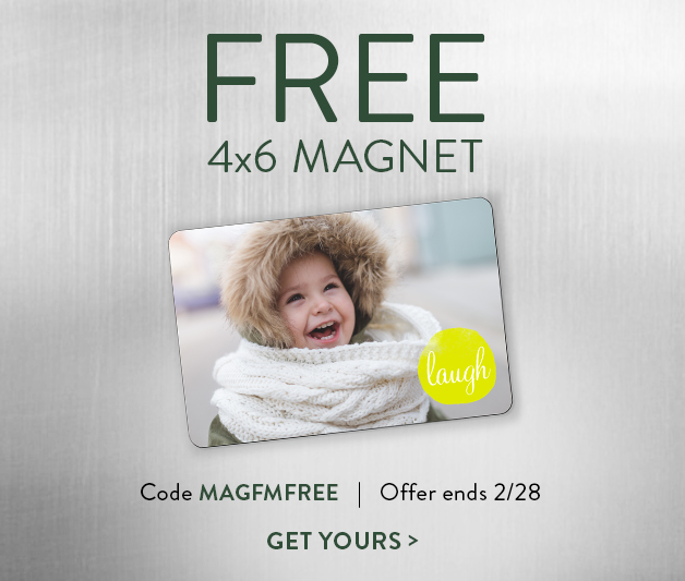 4x6 Photo Magnet free for a limited time only