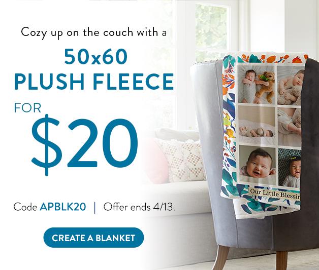50x60 plush fleece blanket for $20