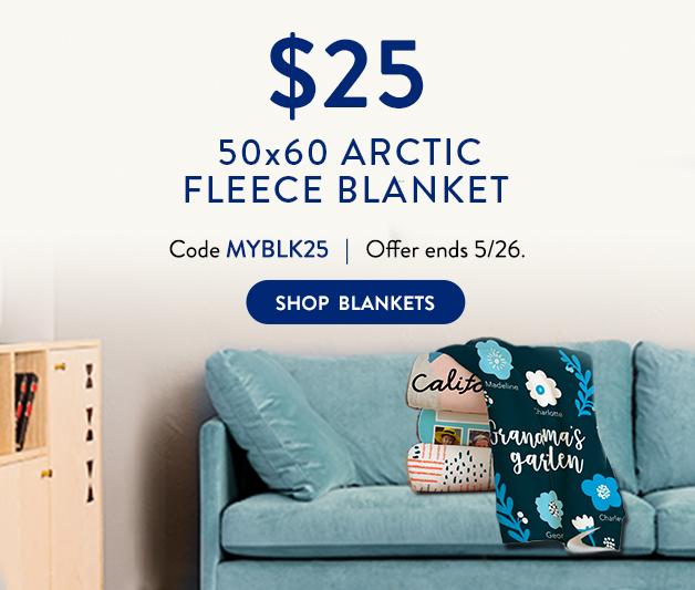 50x60 Arctic Fleece Blanket for $25