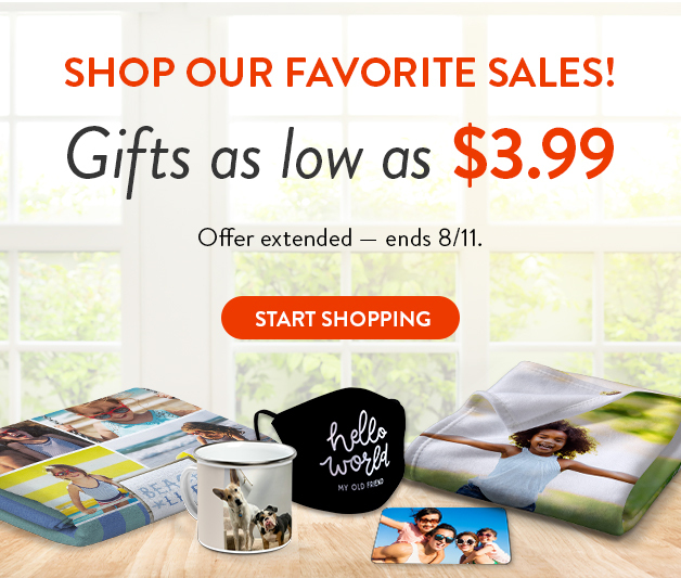 Gifts as low as $3.99