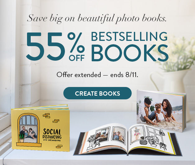 Up to 55% off Photo Books
