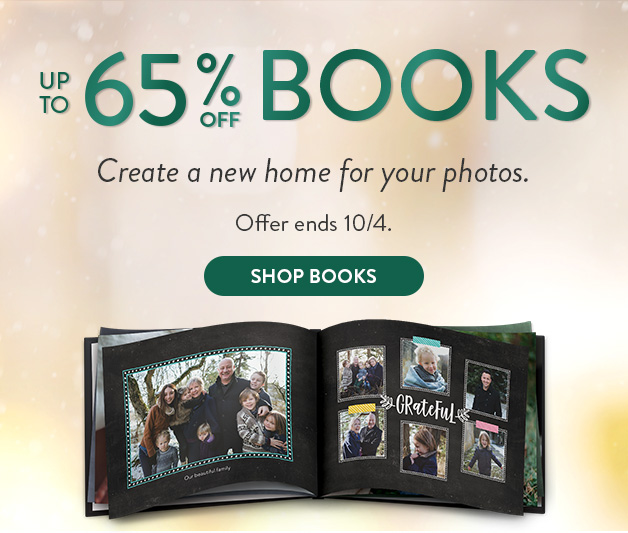 Up to 65% off Photo Books