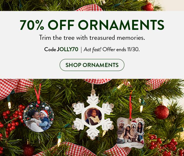 70% off Ornaments