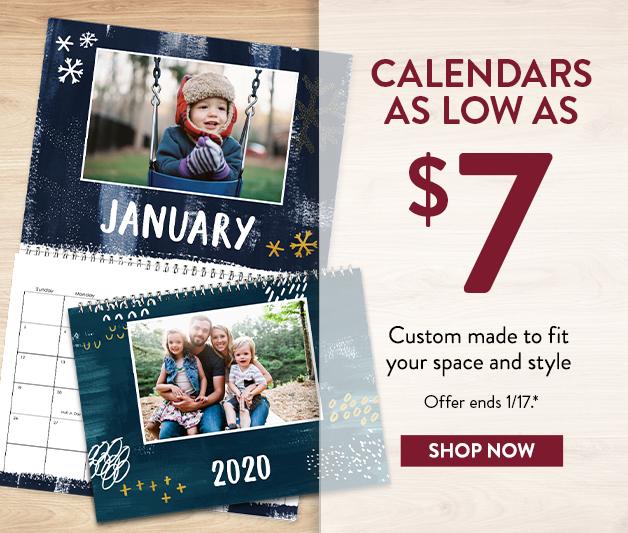 Calendars as low as $7
