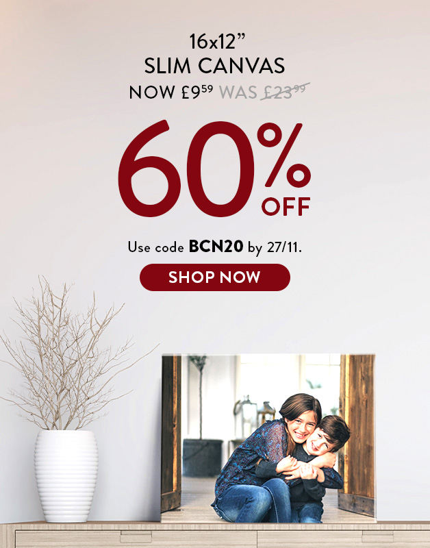 Up to 60% off Canvas Prints!
