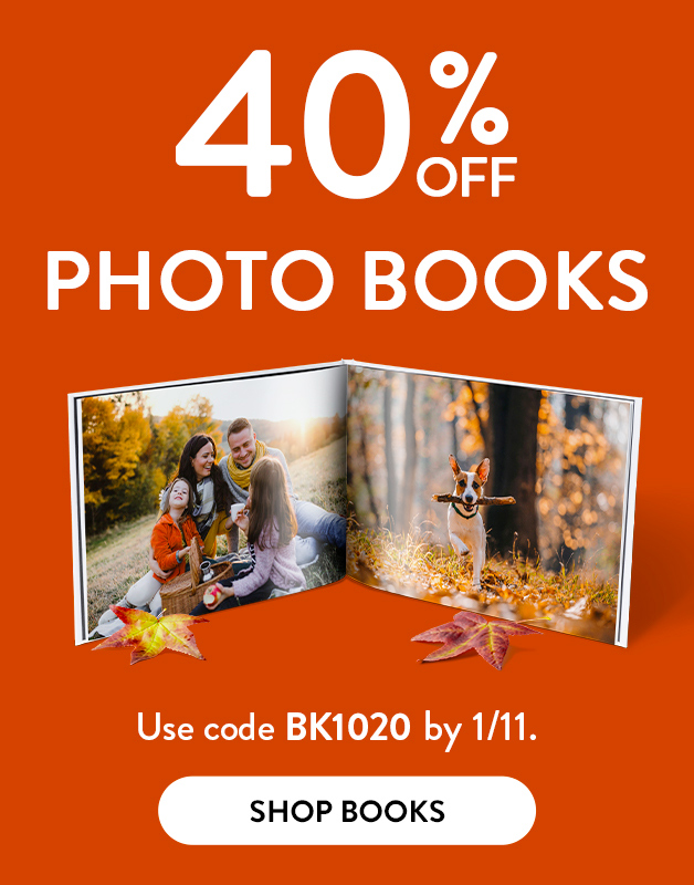 40% off Photo Books!