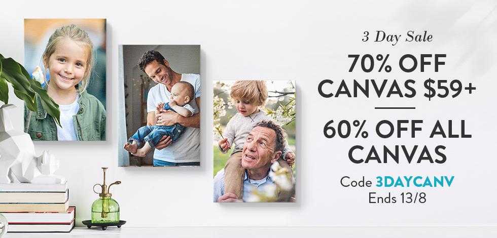 60-70% off Canvas Prints