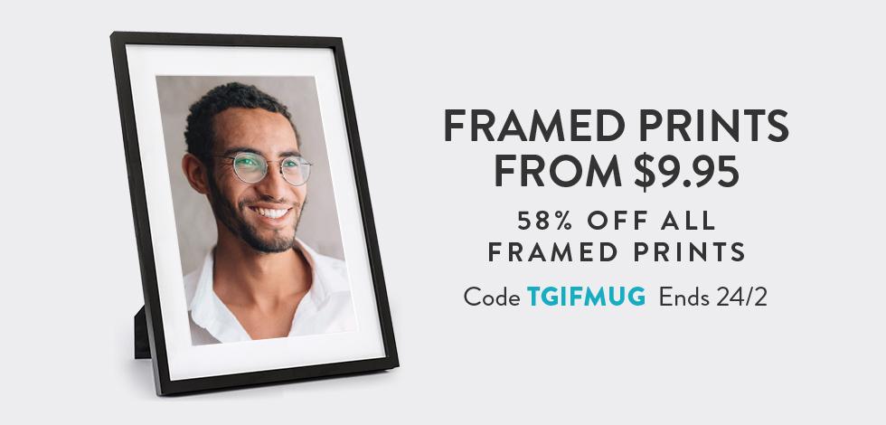 58% off all Framed Prints