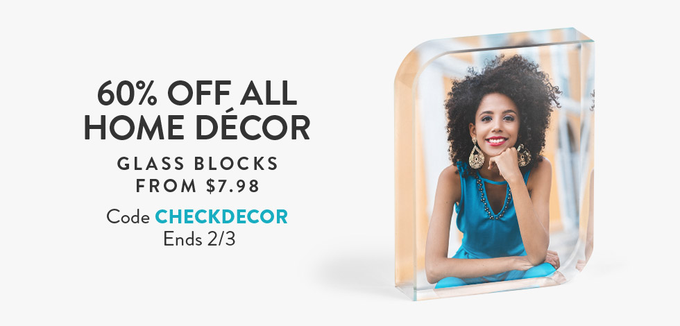 60% off all Home Decor
