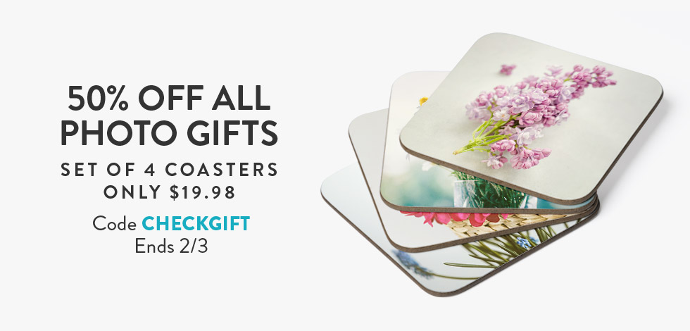 50% off all Photo Gifts