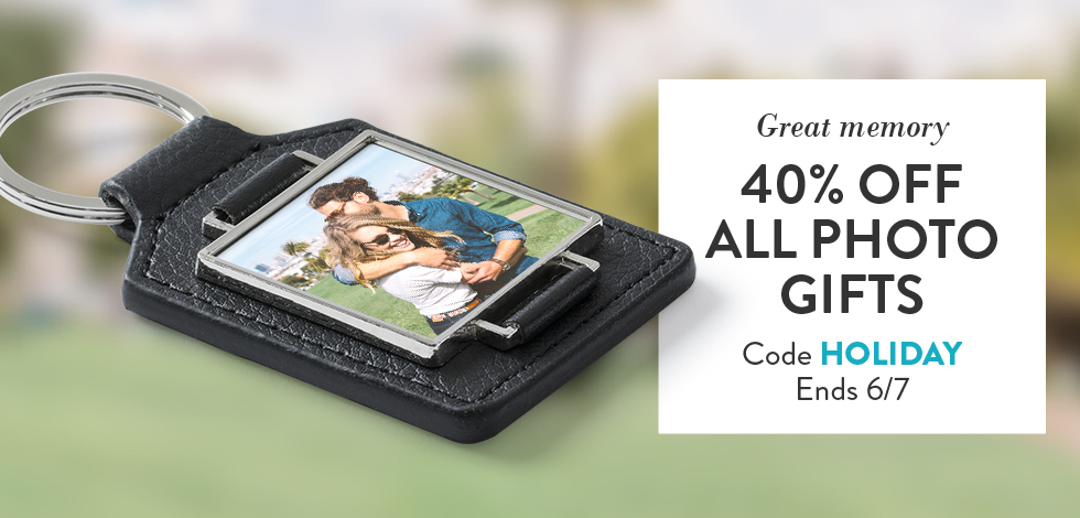 40% off all Photo Gifts