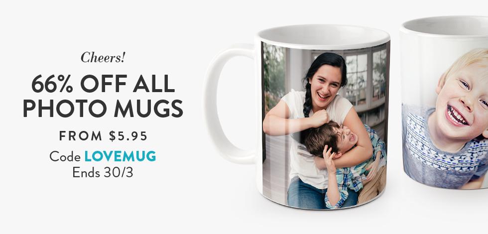 66% off all Photo Mugs