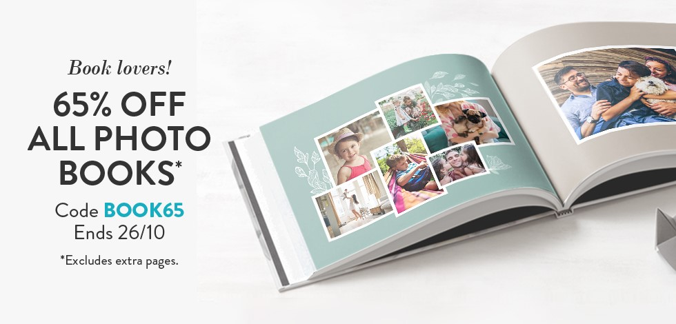65% off all Photo Books*