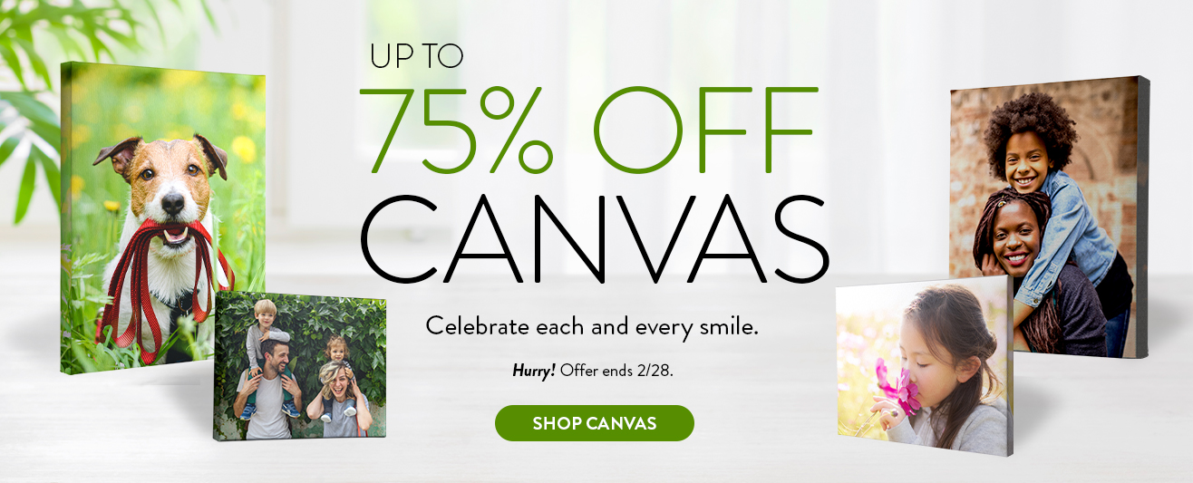 Up to 75% off Canvas Print
