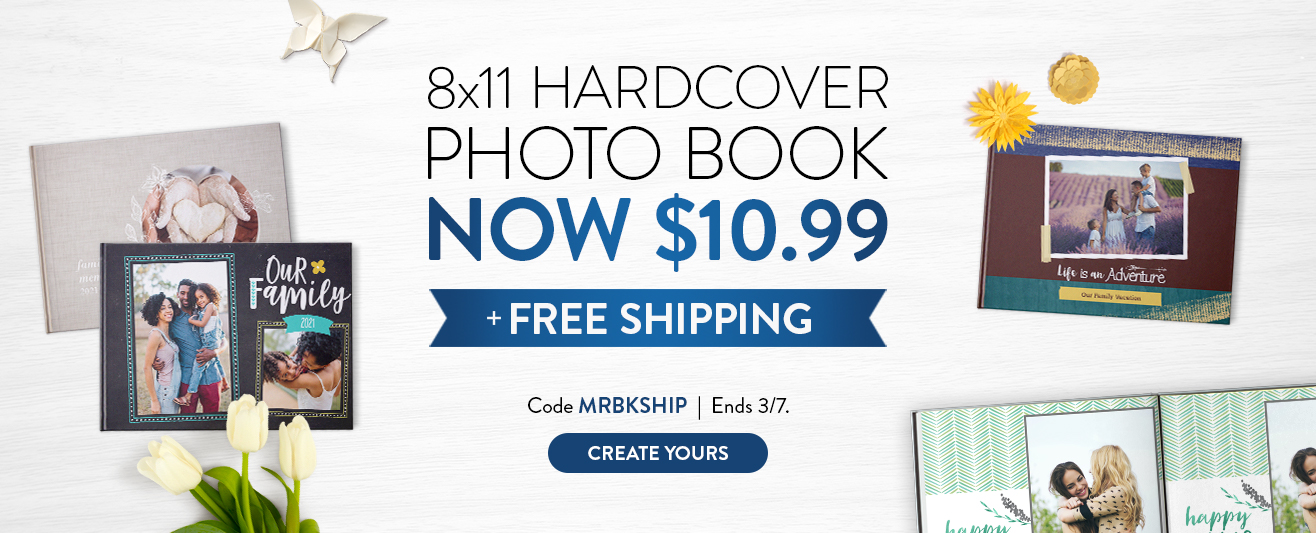 8x11 Hardcover now $10.99 with free shipping