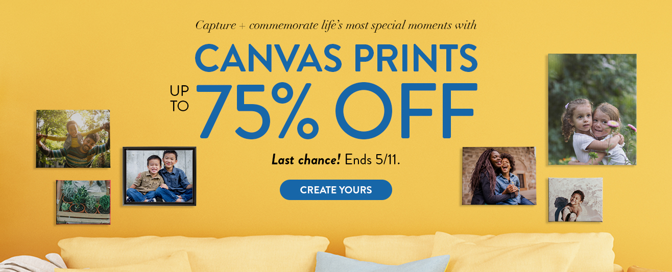 Up to 75% off Canvas Prints