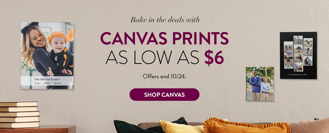Canvas as low as $6