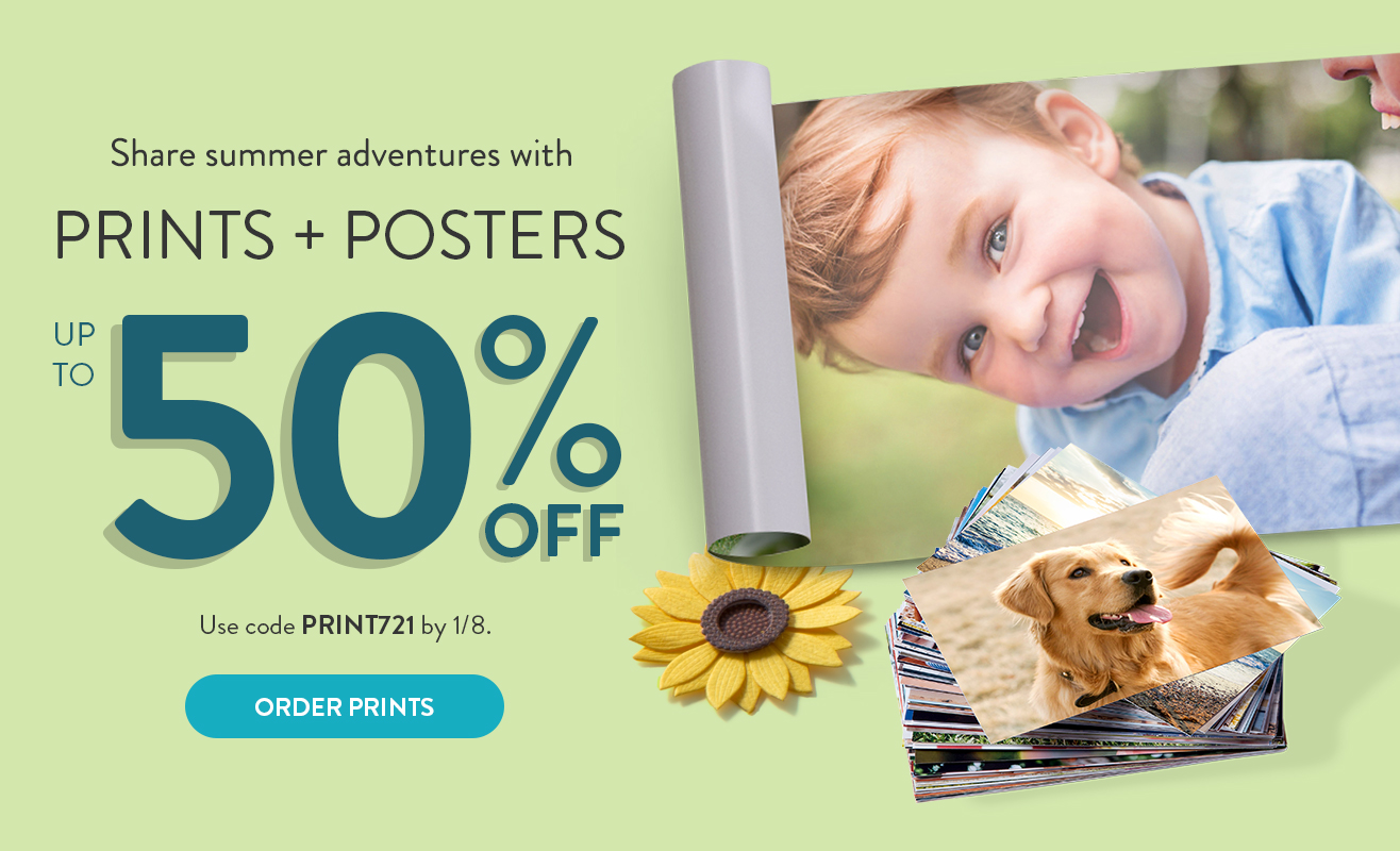 Up to 50% off Prints and Posters!