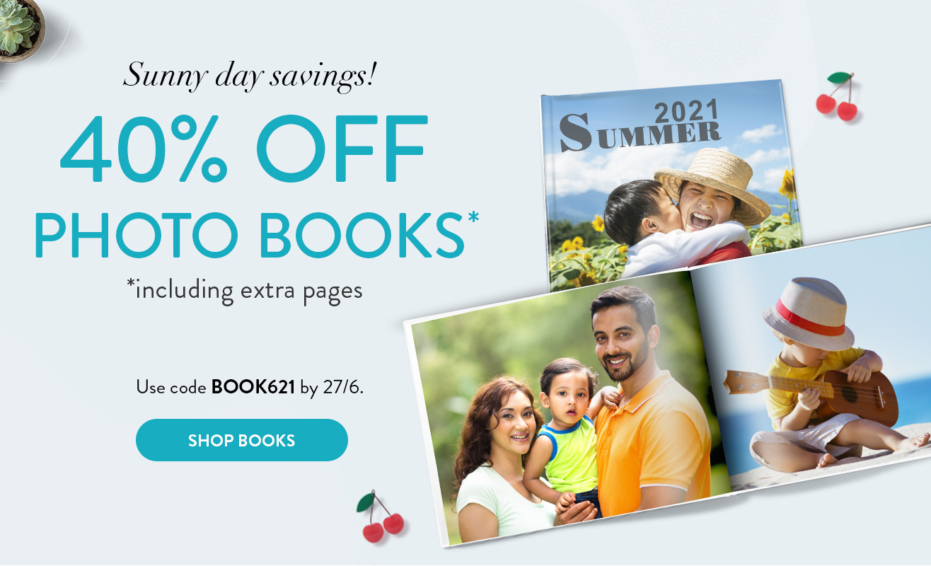 40% off Photo Books!