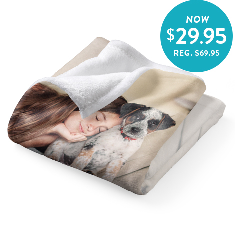 75x100cm Plush Fleece Blanket