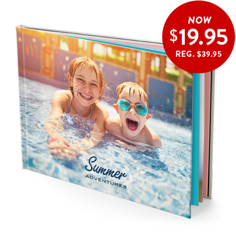 20x28cm hardcover photo book (satin pages)