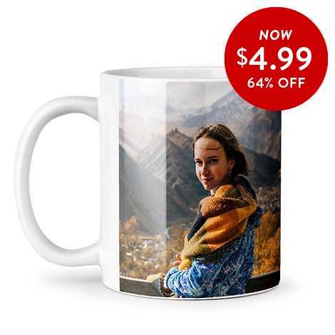64% off 11oz. Photo Coffee Mugs