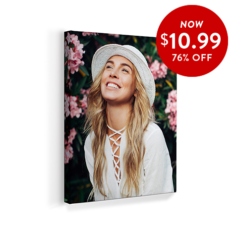 76% off 8x10 Canvas Prints