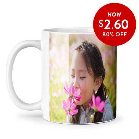80% off 11oz. Photo Coffee Mugs