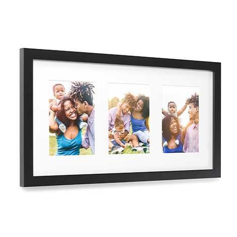 Framed Matted Prints, 3 Images, Black