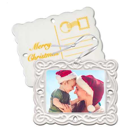 Porcelain Postcard Ornament