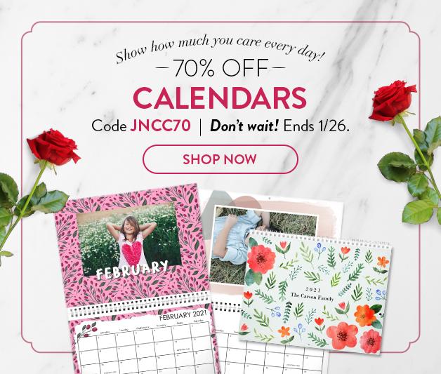 70% off Calendars