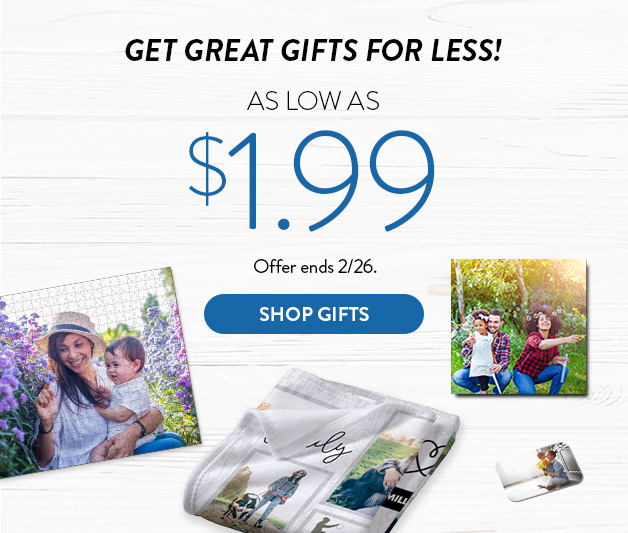 Gifts as low as $1.99