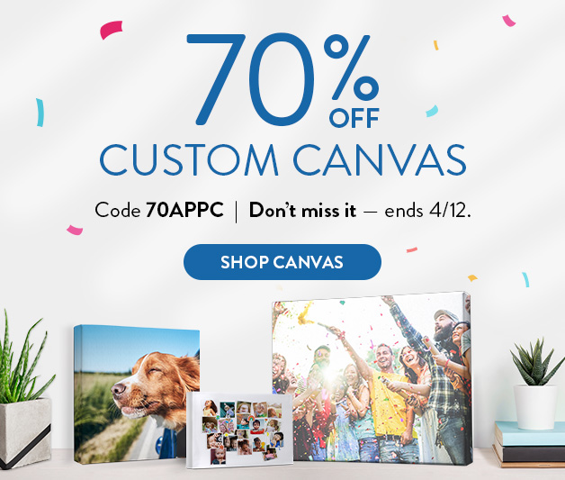 70% off  Custom Canvas Prints