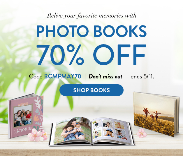 70% off Photo Books
