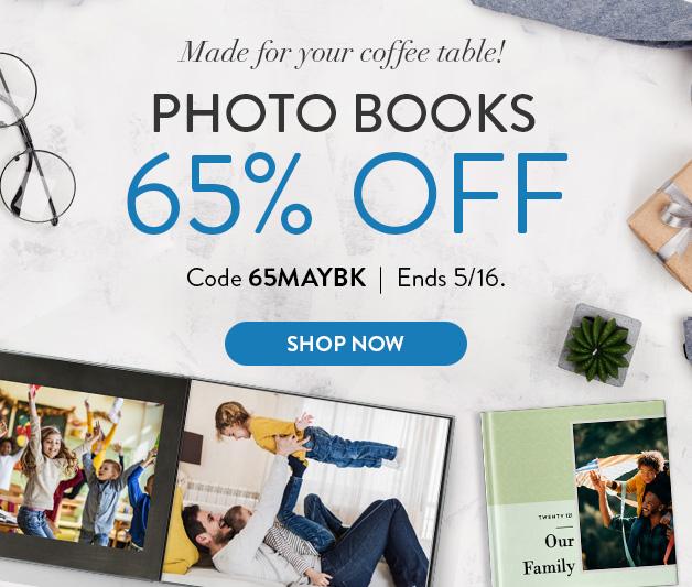 65% off Photo Books