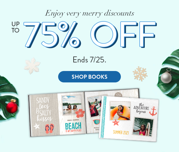 Up to 75% off all Photo Books