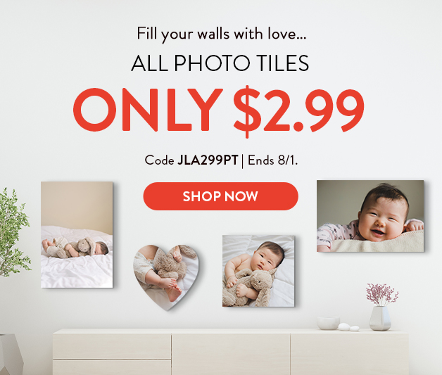 Any photo tile for $2.99 each