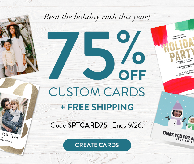 75% off Cards + free lowest price shipping