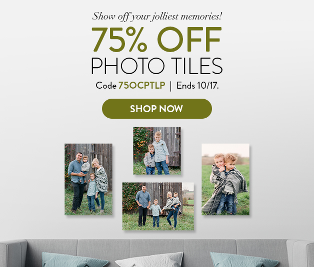 75% off all Photo Tiles