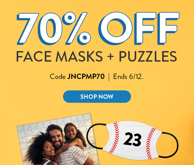 70% off masks and puzzles