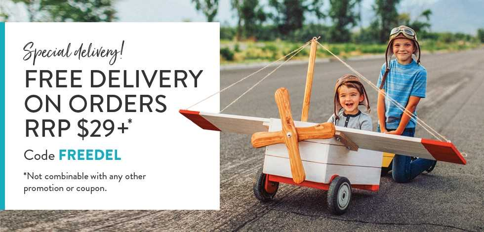 Free delivery on orders $29 or more*
