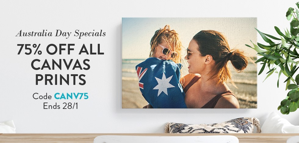 75% off all Canvas Prints