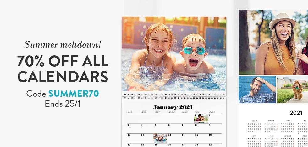 70% off all Calendars