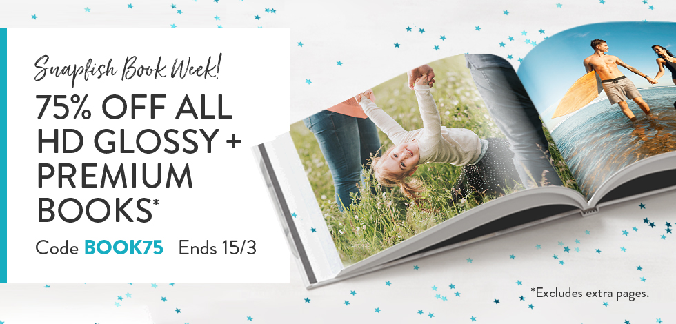 75% off all HD Glossy + Premium Books*