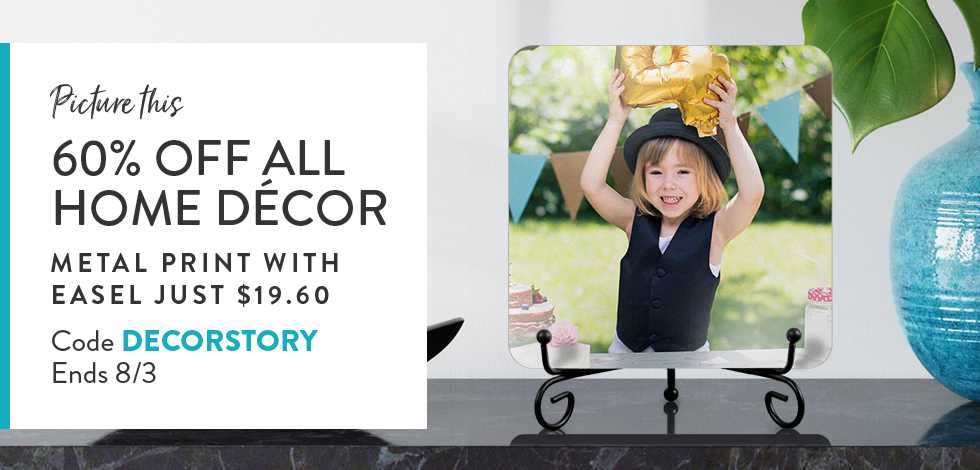 60% off all Home Decor + Framed Prints